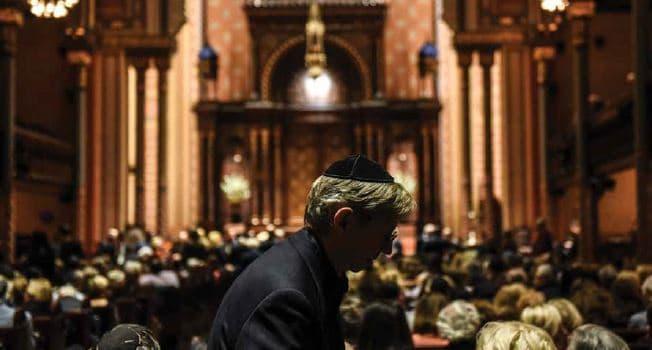 בית הכנסת סנטרל סינגוג במנהטן // צילום: Stephanie Keith, AFP, Getty Images IL