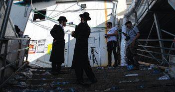 זירת האסון בהר מירון // צילום: גיל אליהו, 'הארץ