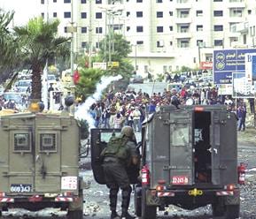 אירועי אוקטובר 2000 באזור רמאללה צילום נדב גרנות, דו״צ, ויקיפדיה