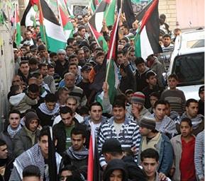 הפגנות באום אל־פחם במהלך 'עופרת יצוקה', 2008 צילום איציק בן מלכי, ׳הארץ׳