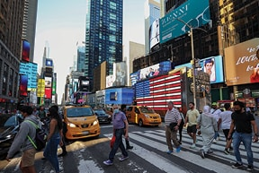 חוזרת לחיים. ניו יורק בחודש שעבר צילום Tayfun Coskun, Anadolu Agency via Getty Images