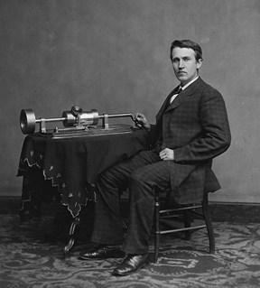 תומס אדיסון והפונוגרף, 1878