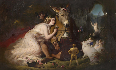׳חלום ליל קיץ׳ של שייקספיר ציור של אדווין לנדסייר, Google Cultural Institute