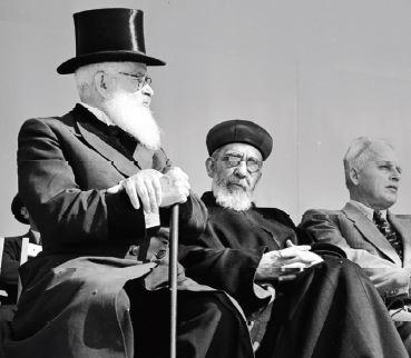 הסב, הרב יצחק הלוי הרצוג )משמאל( // צילום: אימג'בנק