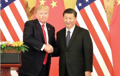 טראמפ ושי ג'ינפינג // צילום: Qilai Shen, Bloomberg via Getty Images IL