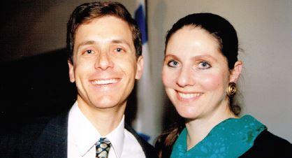 עם אשתו מיכל בצעירותם