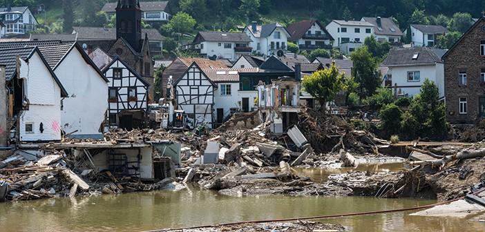 נזקי השיטפונות בגרמניה. צריך לדבר על מזג האוויר // צילום: Thomas Lohnes, Getty Images