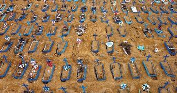 בית קברות מאולתר בברזיל צילום Michael Dantas, AFP via Getty Images