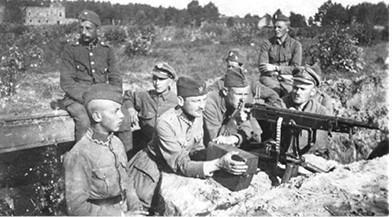 חיילים פולנים במהלך המלחמה הפולנית־סובייטית, 1920