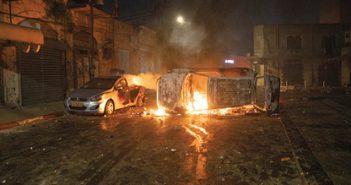 לוד בתקופת המהומות צילום מוטי מילרוד, 'הארץ' ZEDEK-masa-kehilot_oct21