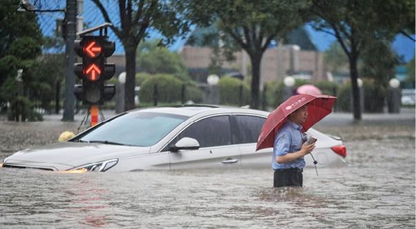 שיטפונות בסין צילום STR, AFP via Getty Images